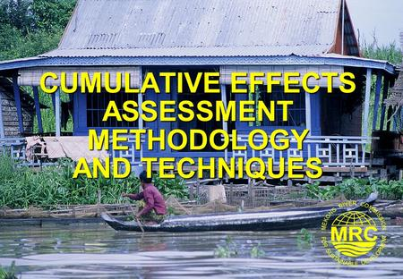 CUMULATIVE EFFECTS ASSESSMENT METHODOLOGY AND TECHNIQUES.