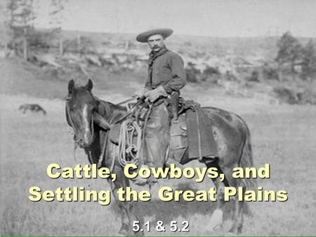 Cattle, Cowboys, and Settling the Great Plains