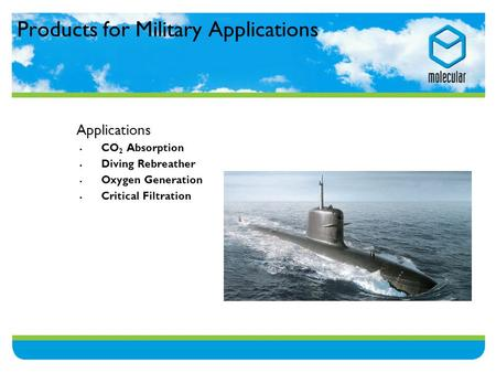 Products for Military Applications