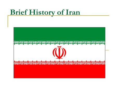 Brief History of Iran. Age of Imperialism Russia & Britain gained Spheres of Influence in Iran after WWI Increasing dislike of Western powers.