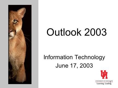 1 Outlook 2003 Information Technology June 17, 2003.
