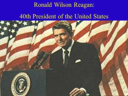 an introduction to the ronald reagan wilson 40th president of the united states I thought this book was good because i like historical fiction books the reading  age would probably be 4th grade and up ronald wilson reagan was born on.