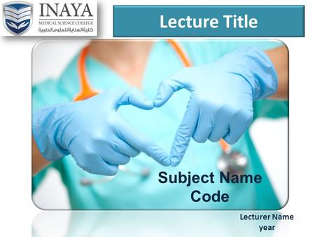 Lecture Title Lecturer Name year Subject Name Code.