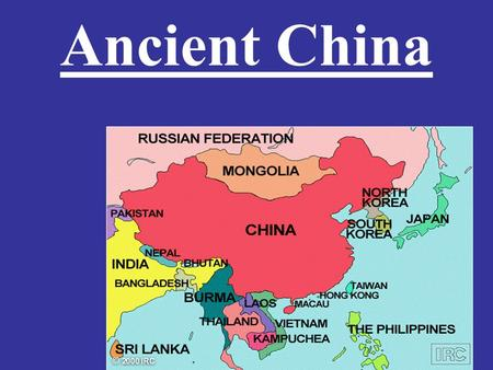 Ancient China. Geography China's geography played an important role in its development.