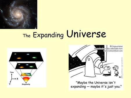 The Expanding Universe. The Hubble Law The Hubble constant H o is one of the most important numbers in cosmology because it may be used to estimate the.