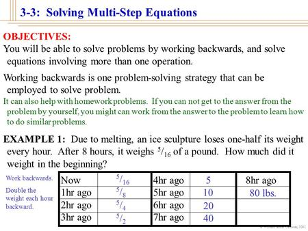 Working Backwards Problem Solving