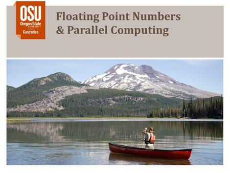 Floating Point Numbers & Parallel Computing. Outline Fixed-point Numbers Floating Point Numbers Superscalar Processors Multithreading Homogeneous Multiprocessing.