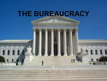 THE BUREAUCRACY. Bureaucracies are everywhere...