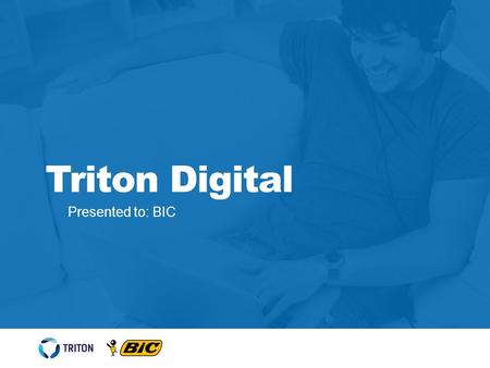 Presented to: BIC Triton Digital. Triton Engagement Network 2 REACH Communicate directly with loyal database members TRAFFIC Creating relevant and engaged.