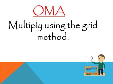 Multiply using the grid method. OMA. Learning Objective Read and plot coordinates in all quadrants.