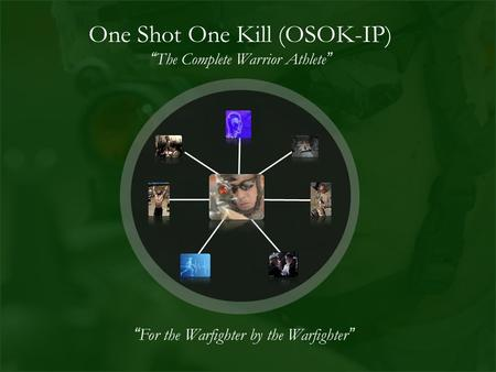"One Shot One Kill (OSOK-IP) ""The Complete Warrior Athlete"" ""For the Warfighter by the Warfighter"""