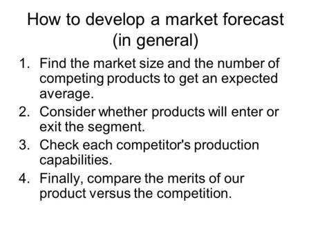 capsim how to develop a sales forecast