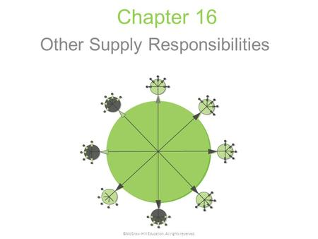 Chapter 16 Other Supply Responsibilities ©McGraw-Hill Education. All rights reserved.