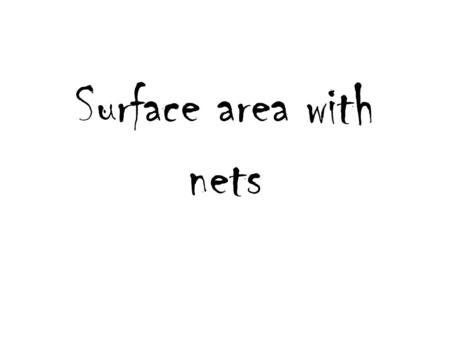 Surface area with nets. 8 ft. 3 ft # 8 494 miles 433 miles X miles # 9.