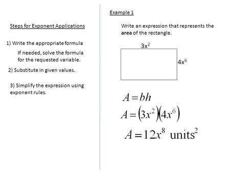 Expressions of a rectangle?