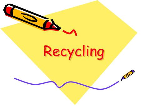 RecyclingRecycling. Starter activity- key terms Cut out the terms and definitions and past them into your book. These are the keys word that you need.