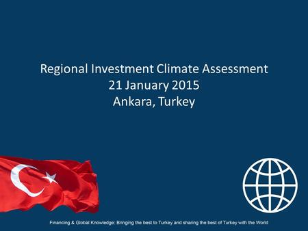 Regional Investment Climate Assessment 21 January 2015 Ankara, Turkey.