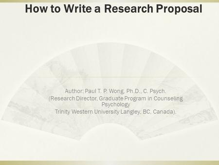 School Psychology write research project