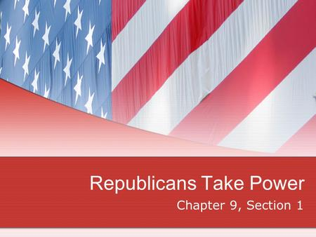 Republicans Take Power Chapter 9, Section 1. Election of 1800 _____________ supported President Adams for 2 nd term w/Charles Pinckney as VP from S. Carolina.