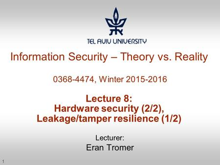 Information Security – Theory vs
