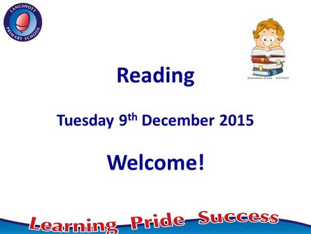 Reading Tuesday 9 th December 2015 Welcome!. New National Curriculum Key changes: - synthetic phonics - reading for pleasure - increased emphasis on reading.
