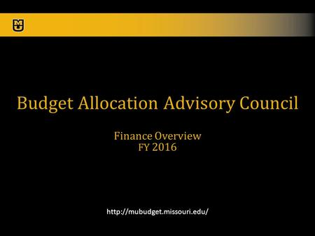 1  Budget Allocation Advisory Council Finance Overview FY 2016.