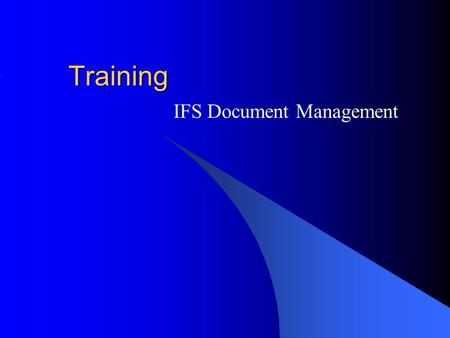 IFS Document Management