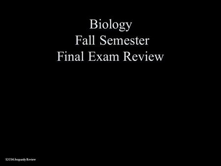 Final Exam Review Guide