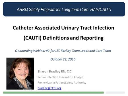 Onboarding Webinar #2 for LTC Facility Team Leads and Core Team