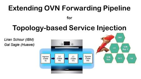 Extending OVN Forwarding Pipeline Topology-based Service Injection