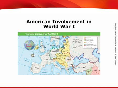 TEKS 8C: Calculate percent composition and empirical and molecular formulas. American Involvement in World War I.