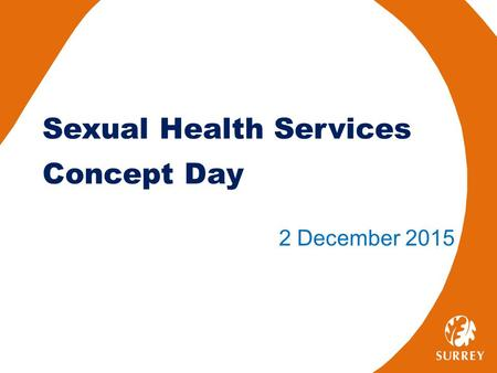 Sexual Health Services Concept Day 2 December 2015.