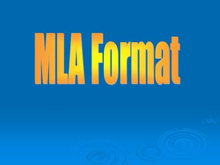 mla powerpoint researched paper Read this post to learn the 5 best resources to help with writing a research paper on much more credible and scholarly sources appropriate for a research paper.