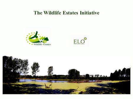 The Wildlife Estates Initiative Public Policy. The Message Appropriate land-management & Sustainable hunting: – Regulates and enhances natural resources;