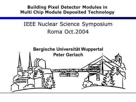 IEEE Nuclear Science Symposium Roma Oct.2004