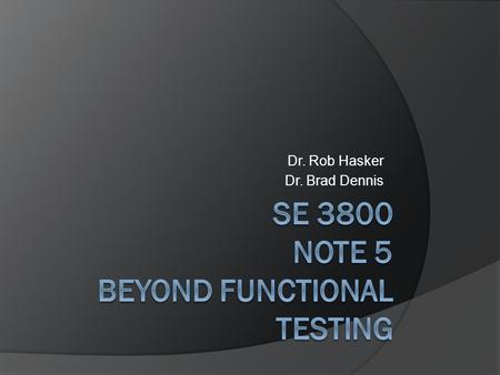 Dr. Rob Hasker Dr. Brad Dennis. Reviewing CI Setup  So what do the steps do?  Key concept: search path Windows: for each command, run through PATH to.