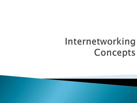 . Large internetworks can consist of the following three distinct components:  Campus networks, which consist of locally connected users in a building.