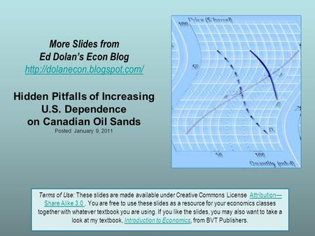 More Slides from Ed Dolan's Econ Blog  Hidden Pitfalls of Increasing U.S. Dependence on Canadian Oil Sands Posted January.