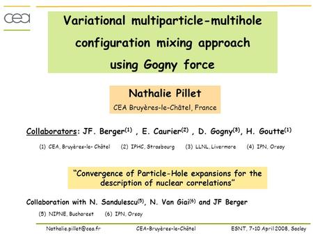 Variational multiparticle-multihole configuration mixing approach