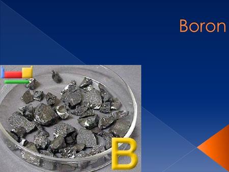  Black  Is a solid  Has a hardness of 9.5  Metalloid  Boils at 2550 Cº  Melts at 2300 Cº.
