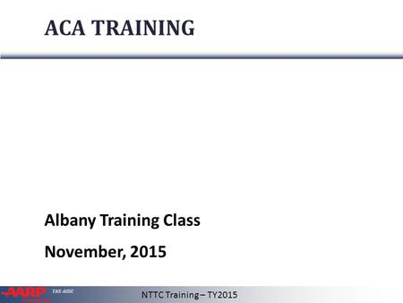 ACA TRAINING Albany Training Class November, 2015