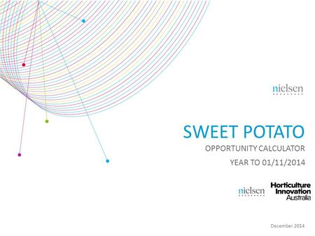 December 2014 SWEET POTATO OPPORTUNITY CALCULATOR YEAR TO 01/11/2014.