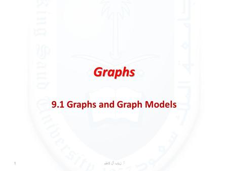 Graphs 9.1 Graphs and Graph Models أ. زينب آل كاظم 1.