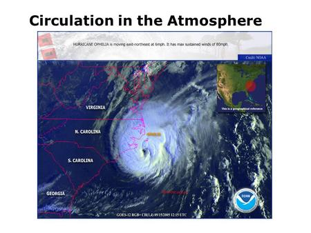 Circulation in the atmosphere Circulation in the Atmosphere.