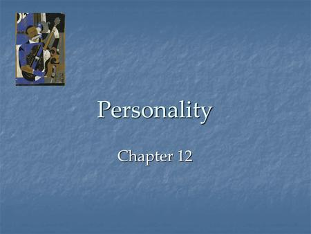 Personality Chapter 12. Personality An individual's unique, long-term pattern of thinking, feeling, and acting. Each dwarf has a distinct personality.