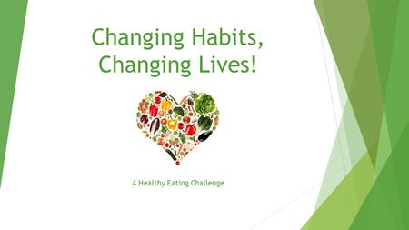 Changing Habits, Changing Lives! A Healthy Eating Challenge.