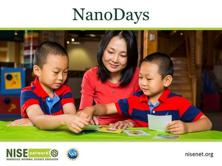 NanoDays nisenet.org. Presentation Overview Intro to NanoDays NanoDays nationwide Our NanoDays event Engaging the public in nano What is nano? NanoDays.