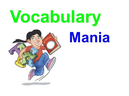 Vocabulary Mania Price $14.95 Sees Behind Trees.