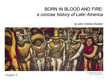 1 BORN IN BLOOD AND FIRE: a concise history of Latin America by John Charles Chasten Chapter 3 © 2011 The Granger Collection.