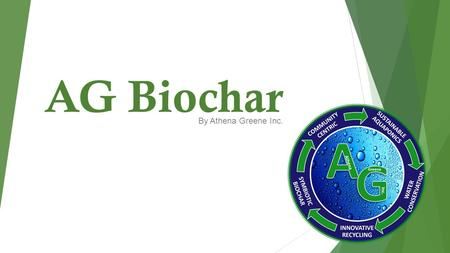 AG Biochar By Athena Greene Inc.. Katie Kelley CEO/Founder Melissa Saldana VP of Sales and Marketing Athena.